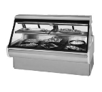 "Federal Industries MSG-1054-DC 122"" Full Service Deli Case w/ Curved Glass - (2) Levels, 120v"