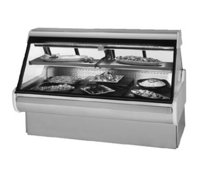 "Federal MSG-1054-DC 122"" Full Service Deli Case w/ Curved Glass - (2) Levels, 120v"