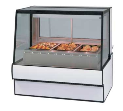 "Federal SG7748HD BLK 77"" Sloped Thermopane  Glass Hot Deli Case w/ 3-Wells, Black"