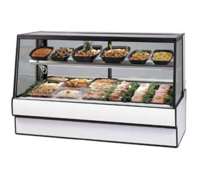"Federal SGR3648CD 36"" Full Service Deli Case w/ Straight Glass - (2) Levels, 120v"