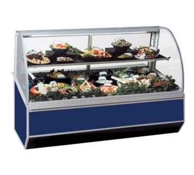 "Federal SN-6CD 72"" Full Service Deli Case w/ Curved Glass - (2) Levels, 120v"