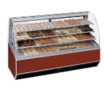 "Federal SN-77 BLK 77"" Self Service Bakery Case w/ Curved Glass - (3) Levels, 120v"