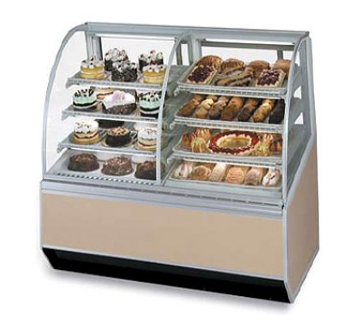"Federal SN48-3SC 48"" Full Service Bakery Case w/ Curved Glass - (4) Levels, 120v"