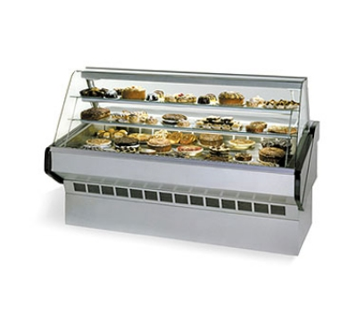 "Federal Industries SQ-6B BLK 72"" Full Service Bakery Case w/ Curved Glass - (3) Levels, 120v"