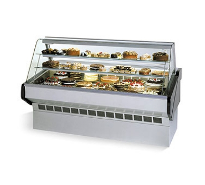 "Federal SQ-6CB 72"" Full Service Bakery Case w/ Curved Glass - (3) Levels, 120v"