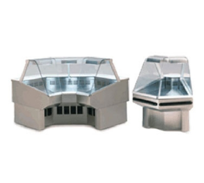 "Federal SQRIC45 54"" Full Service Deli Case w/ Curved Glass - (1) Levels, 120v"