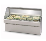 "Federal SQ-8CD 96"" Full Service Deli Case w/ Curved Glass - (1) Levels, 120v"