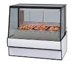 "Federal SG5048HD BLK 50"" Sloped Thermopane  Glass Hot Deli Case w/ 3-Wells, Black"
