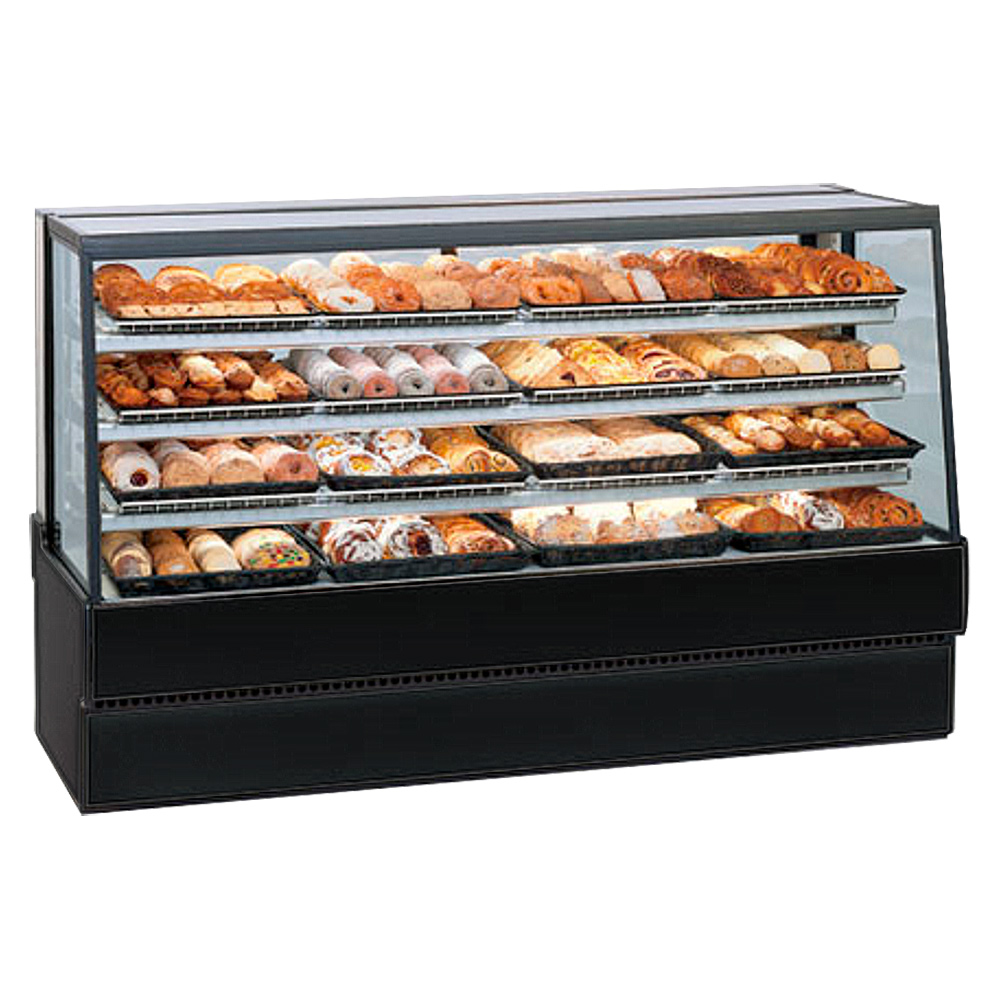 """Federal SGD7742 77"""" Full Service Bakery Case w/ Straight Glass - (3) Levels, 120v"""