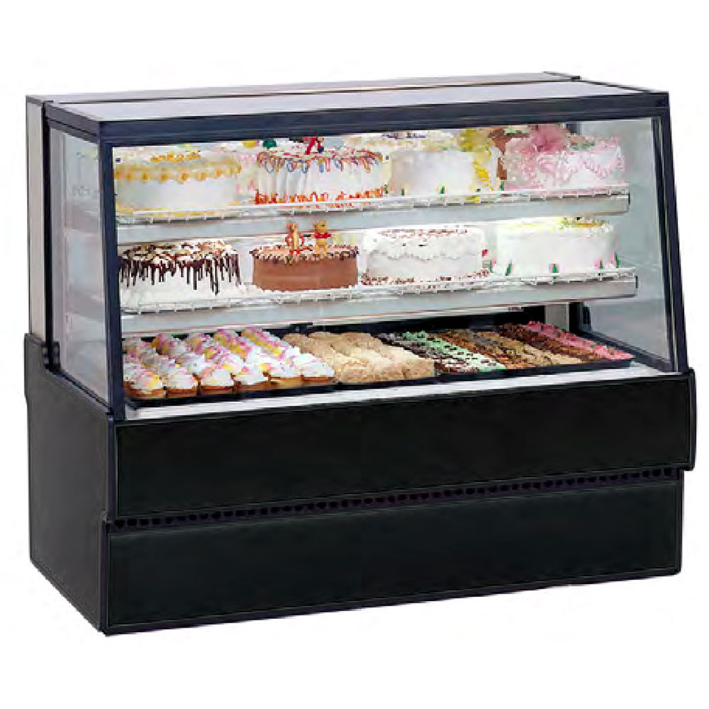 "Federal Industries SGR5048 50"" Full Service Bakery Case w/ Straight Glass - (4) Levels, 120v"