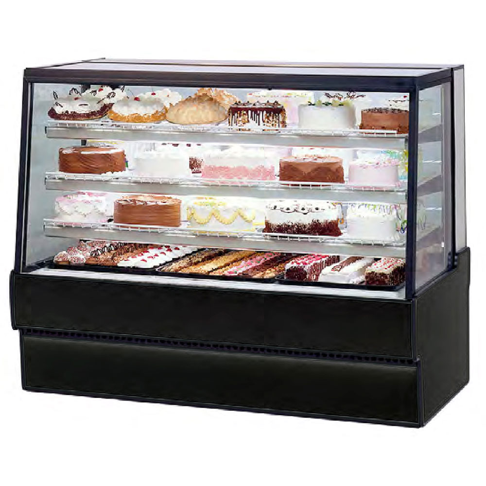 "Federal SGR5942 59"" Full Service Bakery Case w/ Straight Glass - (3) Levels, 120v"