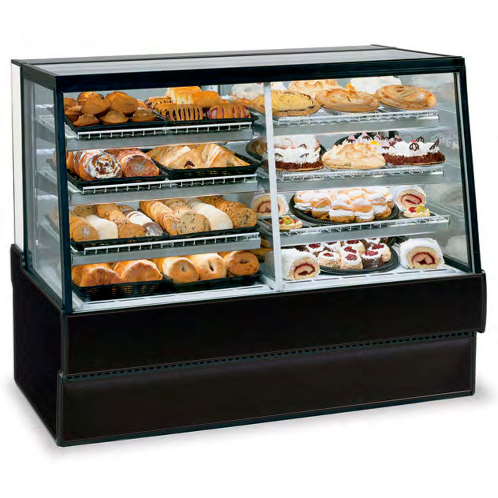 "Federal SGR7742DZ 77"" Full Service Bakery Case w/ Straight Glass - (3) Levels, 120v"
