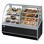 "Federal SN59-3SC 59"" Full Service Bakery Case w/ Curved Glass - (4) Levels, 120v"