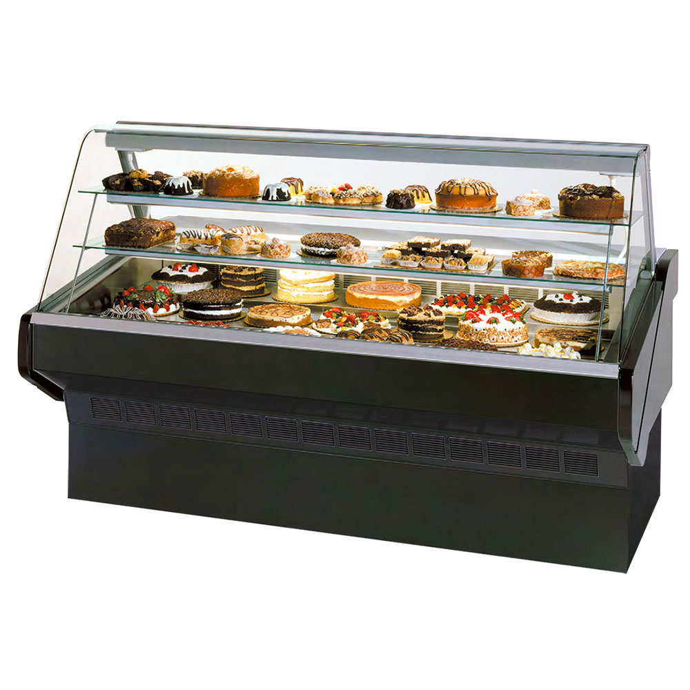 """Federal SQ-3CB 36"""" Full Service Bakery Case w/ Curved Glass - (4) Levels, 120v"""