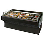 "Federal SQ-8CBSS 96"" Refrigerated Self-Serve Bakery Case w/ Solid State, Black, 120v"