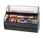 "Federal SSRC5052 50"" Horizontal Open Air Cooler & Prep Table - (5) Levels, Black, 230v/1ph"