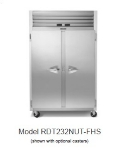 "Traulsen RDT232N-HHS 53"" Two Section Commercial Refrigerator Freezer - Solid Doors, Remote Compressor, 115v"