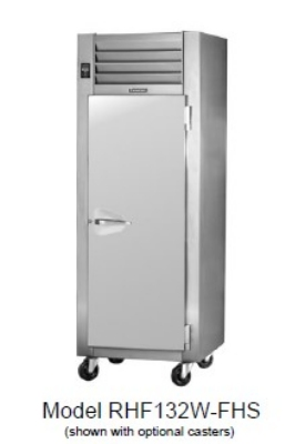 Traulsen RHF232W-FHG 208 2-Section Reach-In Heated Cabinet w/ Full Glass Door, 208/1 V