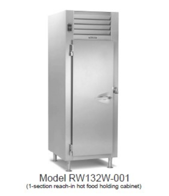 Traulsen RI132L-COR01 1-Section Roll-In Correctional Heated Cabinet w/ Full Door, 208/115 V