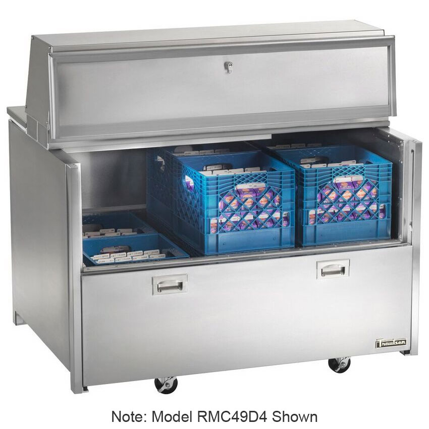 Traulsen RMC34D6 Milk Cooler w/ Top & Side Access - (512) Half Pint Carton Capacity, 115v