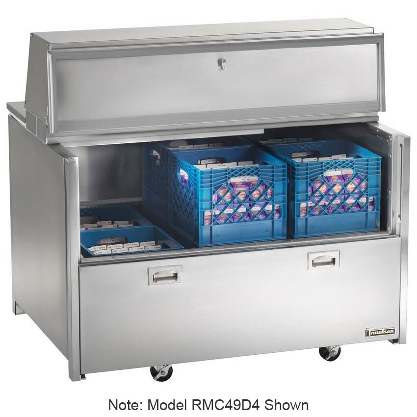 Traulsen RMC58D6 Milk Cooler w/ Side Access - (1024) Half Pint Carton Capacity, 115v