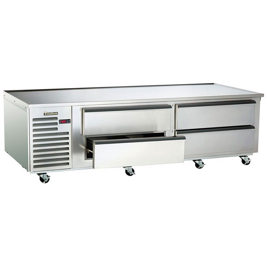 "Traulsen TE084HT 115 84"" Chef Base w/ (4) Drawers - 115v"