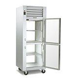 Traulsen G14302P 208 1-Section Pass-Thru Hot Holding Cabinet w/ Half Solid, 208/115/1 V
