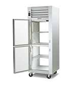 Traulsen G14305P 208 1-Section Pass-Thru Hot Holding Cabinet w/ Half Solid Doors, 208/115/1 V