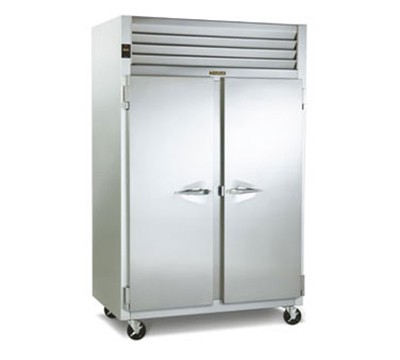 Traulsen G24314P 2-Section Pass-Thru Hot Holding Cabinet w/ Full Solid, 208/115/1 V