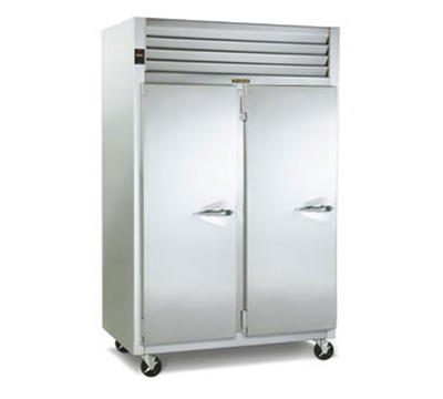 Traulsen G24315P 2-Section Pass-Thru Hot Holding Cabinet w/ Full Solid, Left, 208/115/1 V