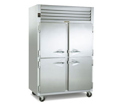 Traulsen G24304P 2-Section Pass-Thru Hot Holding Cabinet w/ Half Solid, 208/115/1 V