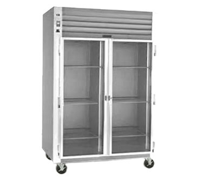 "Traulsen G21010 32"" Two-Section Refrigerated Display w/ Swing Doors, Top Mount Compressor, 115v"