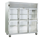 "Traulsen G3200- 77"" Three-Section Refrigerated Display w/ Swing Doors, Top Mount Compressor, 115v"