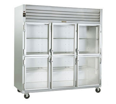 """Traulsen G3200- 32"""" Three-Section Refrigerated Display w/ Swing Doors, Top Mount Compressor, 115v"""