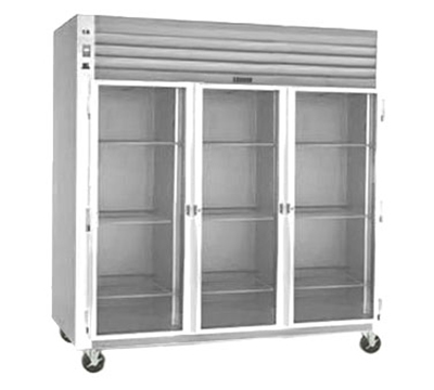 "Traulsen G32010 77"" Three-Section Refrigerated Display w/ Swing Doors, Top Mount Compressor, 115v"