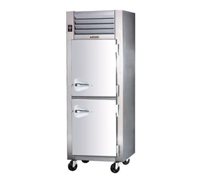 Traulsen AHF132W-HHS 208 1-Section Reach-In Heated Cabinet w/ Half Solid Door, 208/115/1 V