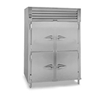 Traulsen RHF232WP-HHS Pass-Thru 2-Section Heated Cabinet w/ Half Solid Doors, 208/115 V