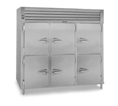 Traulsen AHF332W-HHS 208 3-Section Reach-In Heated Cabinet w/ Half Solid Door, 208/115/1 V