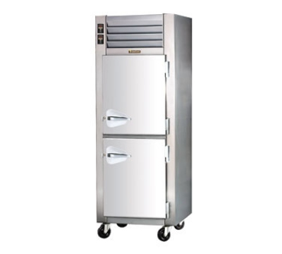 "Traulsen ADT132WUT-HHS 30"" One Section Commercial Refrigerator Freezer - Solid Doors, Top Compressor, 115v"