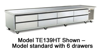 "Traulsen TE110HT 115 110"" Chef Base w/ (6) Drawers - 115v"