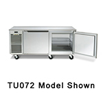 Traulsen TU072HT 20-cu ft Undercounter Refrigerator w/ (2) Sections & (2) Doors, 115v