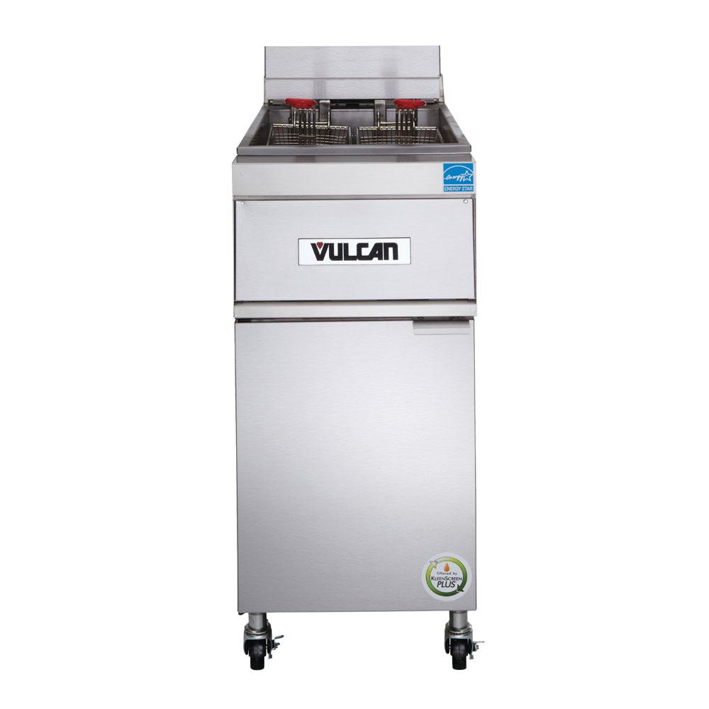 Vulcan 1ER50A-1 Electric Fryer - (1) 50-lb Vat, Floor Model, 208v/3ph