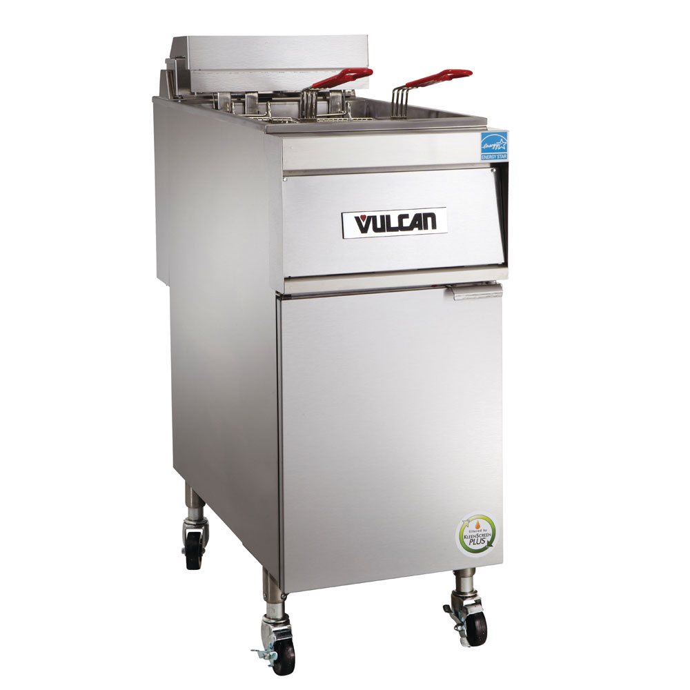 Vulcan-Hart 1ER50A-1 Electric Fryer - (1) 50-lb Vat, Floor Model, 208v/3ph