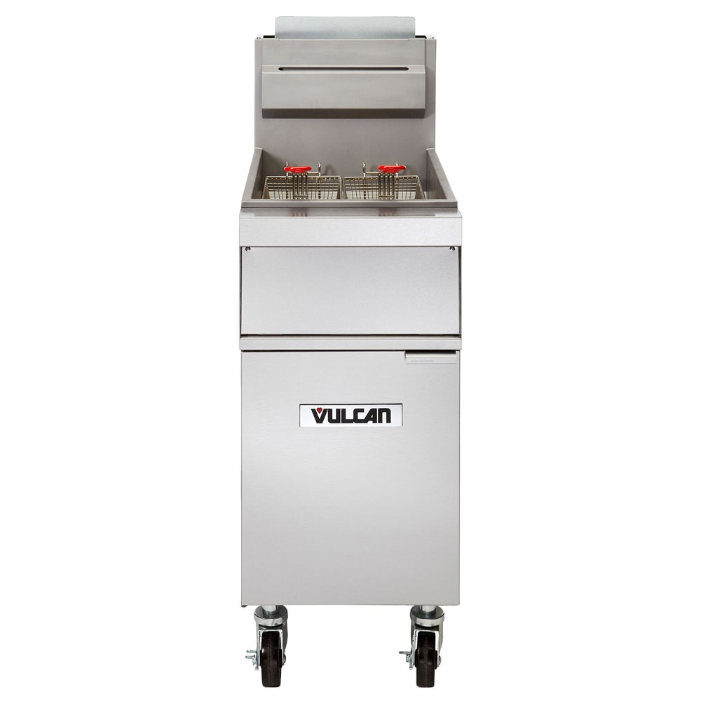 Vulcan-Hart 1GR85M Gas Fryer - (1) 90-lb Vat, Floor Model, NG