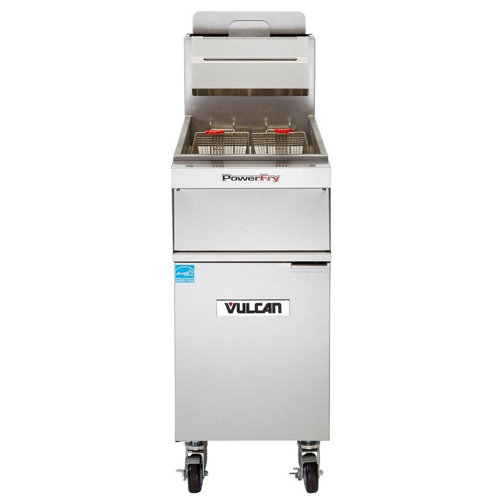 Vulcan 1TR45A Gas Fryer - (1) 50-lb Vat, Floor Model, NG