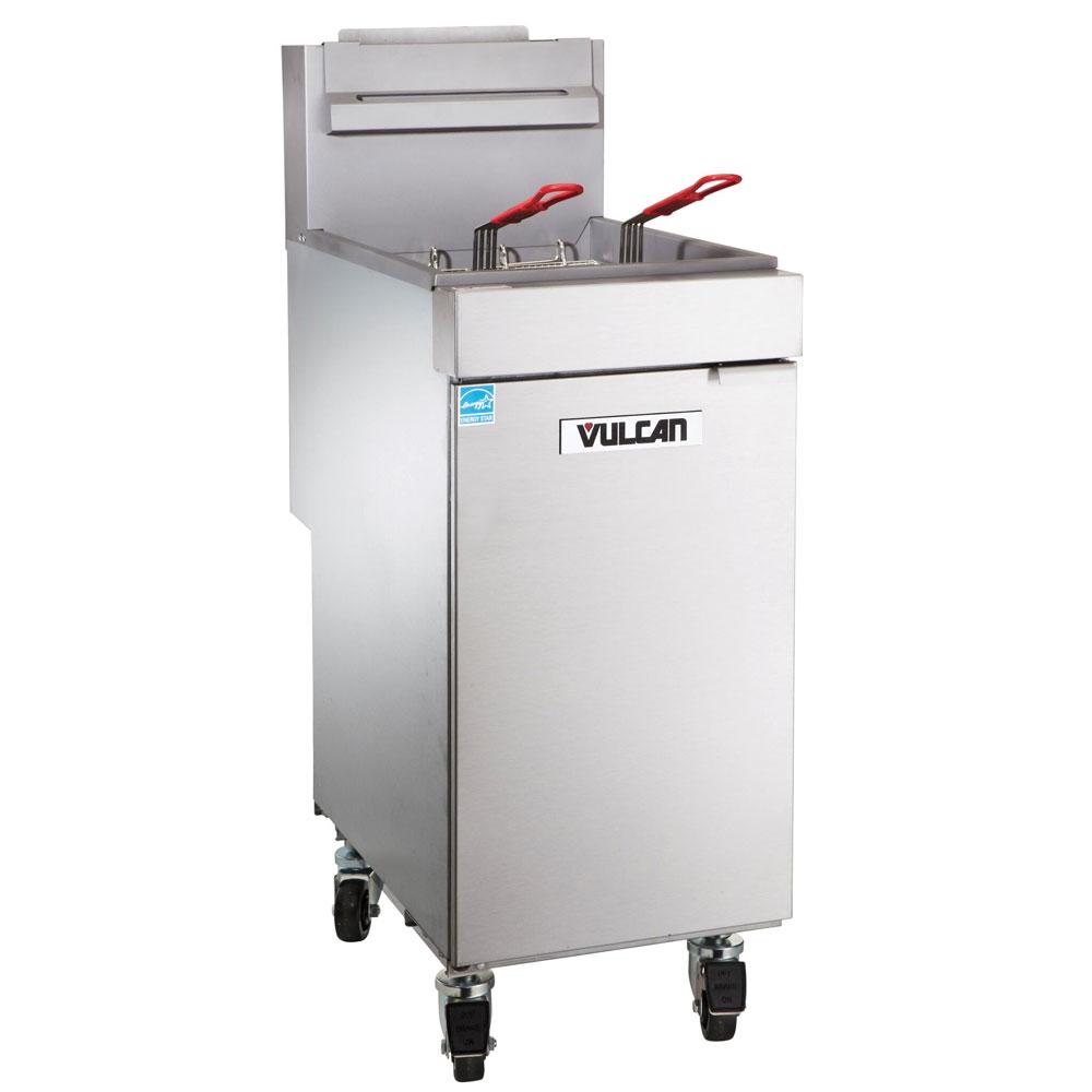 Vulcan-Hart 1VEG35M Gas Fryer - (1) 40-lb Vat, Floor Model, NG
