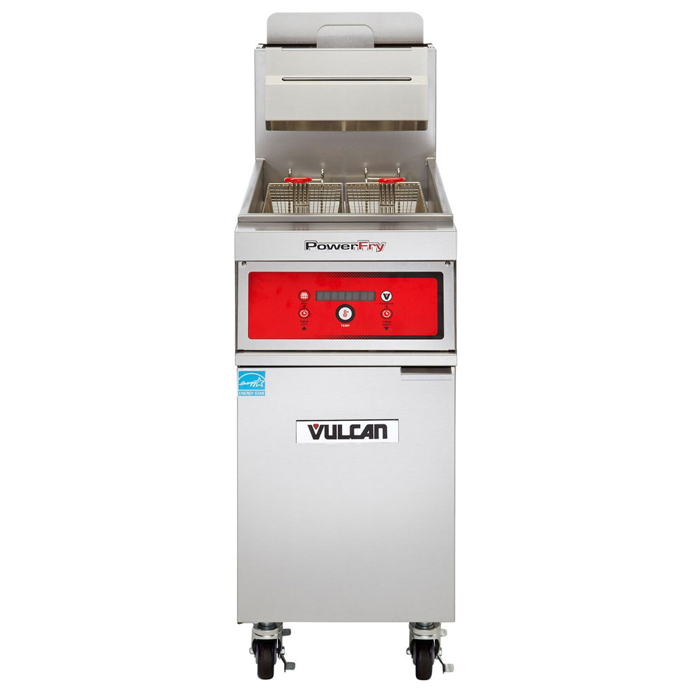 Vulcan-Hart 1VK45D NG Gas Fryer - (1) 50-lb Vat, Floor Model, NG