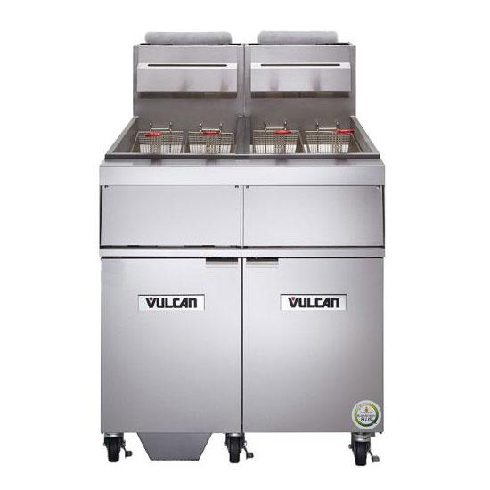 Vulcan-Hart 2GR45AF Gas Fryer - (2) 50-lb Vat, Floor Model, NG