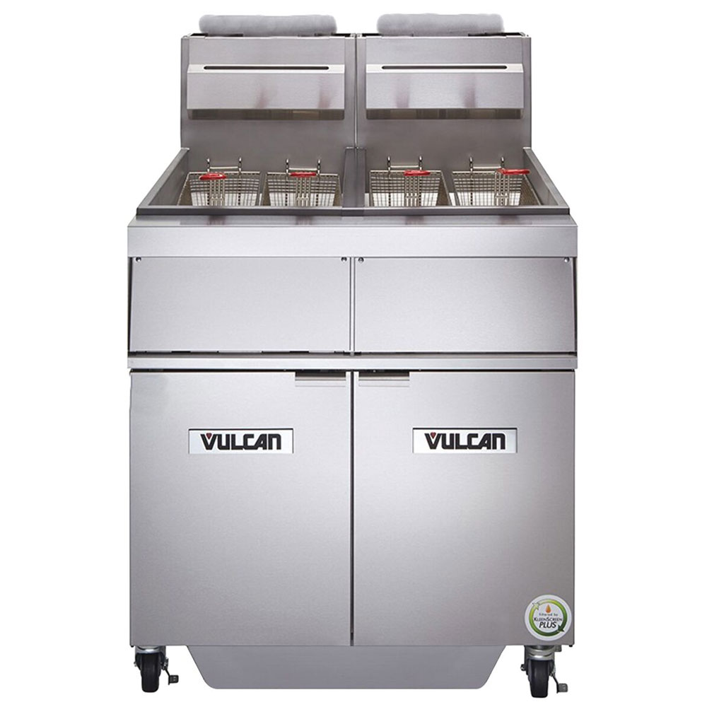 Vulcan-Hart 2GR45MF Gas Fryer - (2) 50-lb Vats, Floor Model, NG