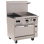 "Vulcan-Hart 36S-2B24GT 36"" 2-Burner Gas Range with Griddle, NG"